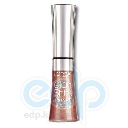 Блеск для губ увлажняющий L'Oreal - Glam Shine Diamant №166 Бежевый алмаз - 6 ml