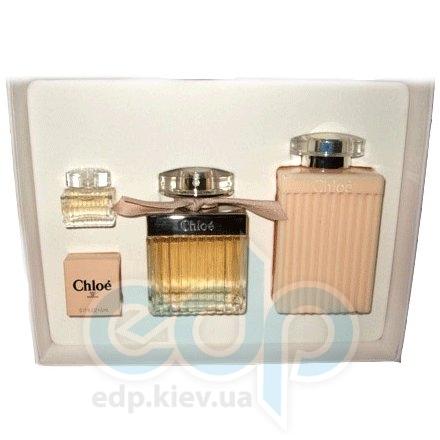 Chloe New 2008 -  Набор (парфюмированная вода 75 + парфюмированная вода 5 мл + лосьон-молочко для тела 200)