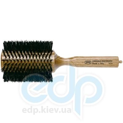3ME Maestri - Расческа с деревянной ручкой из ясеня с разделителем с усиленной щетиной кабана Triangolo диаметр 85 mm