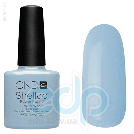 CND Shellac - Azure Wish Гель-лак нежно-голубой, микроблеск №855 - 7.3 ml