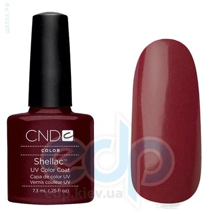 CND Shellac - Dark Lava Гель-лак тёмный фиолетово-бордовый с микроблестками №537 - 7.3 ml