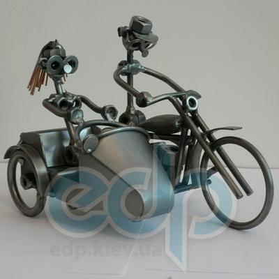 Hinz and Kunst (cтатуэтки) Статуэтки Hinz and Kunst (Германия) - Мотоцикл Harley с коляской - 18 x 23 см. (металл)