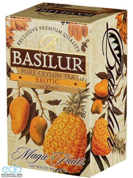 Basilur - Чай черный Magic Fruits Манго и ананас - в пакетиках - 20шт. x 2g (4792252918115)
