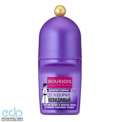 Дезодорант для тела шариковый невидимый, защищающий от белых и желтых следов Bourjois - Deodorant Invisible Roll-On 48h - 50 ml (304520)