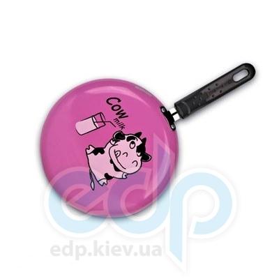 Granchio (посуда) Granchio -  Блинная скородка розовая  Granchio Cow milc Crepe Collection - диаметр 23 см (арт. 88270)