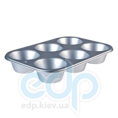 Granchio (посуда) Granchio -  Форма для маффинов Granchino Argento   6 штук (арт. 88326)