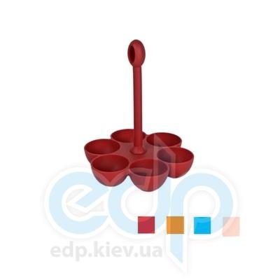 Granchio (посуда) Granchio -  Силиконовая форма для варки яиц Granchio Silico Flex   6 штук (арт. 88420)