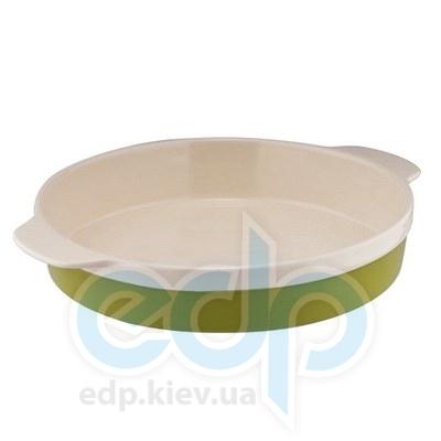 Granchio (посуда) Granchio -  Круглая форма для выпечки/запекания Granchio Natura Oliva Green Ceramica  8 х 22 х 5.3 см   (арт. 88519)