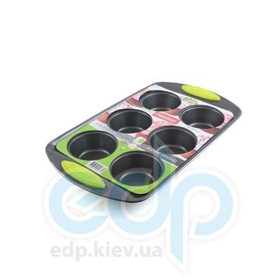 Fissman (посуда) Fissman - Формадлявыпечки 6 кексов 33x19x3.8см  (ФС5.577)