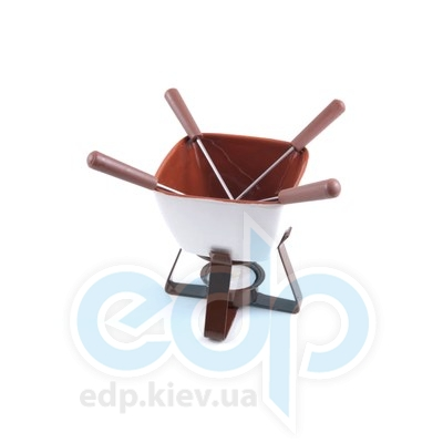 Fissman - Набор для приготов шоколадного фондю VANILLA 6 пр. (керамика) (арт. FD-6.301.6)