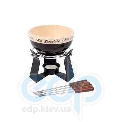 Fissman (посуда) Fissman - Набор для приготов шоколадного фондю SCHOKO 6 пр. (керамика)  (ФС6.303)