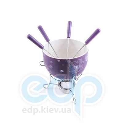 Fissman - Набор для приготовления шоколадного фондю MINI PURPLE 6 пр. (керамика) (FD-6.306.6)