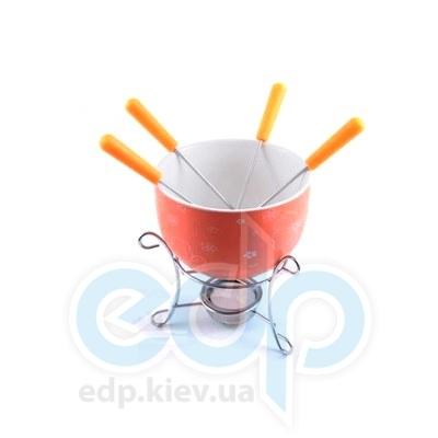 Fissman - Набор для приготов шоколадного фондю MINI ORANGE 6 пр. (керамика) (FD-6.308.6)