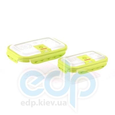 Fissman (посуда) Fissman - Набор прямоугол. контейнеров для хранения продуктов 0.8/1.7л  (ФС6.740)