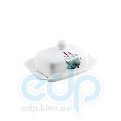 Maestro (посуда) Maestro - Масленка  Лаванда фарфор (МР10024-45)