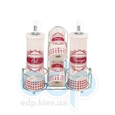 Maestro (посуда) Maestro - Набор для специй на подставке 4пр. (МР20028-04S)