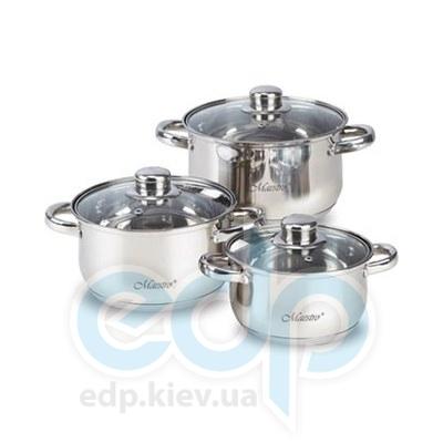 Maestro (посуда) Maestro - Набор посуды 6пр. сер. (МР2120-6L)