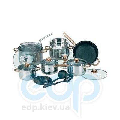 Maestro (посуда) Maestro - Набор посуды 17пр. зол. (МР2506)