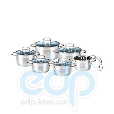 Maestro (посуда) Maestro - Набор посуды 12пр. зол.   (МР3516)