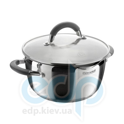 Rondell (посуда) Rondell - Кастрюля Flamme с крышкой 24см 5.7л  (RDS-025)