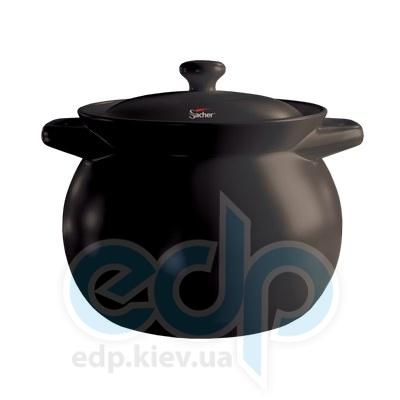 Sacher (посуда) Sacher - Кастрюля керамическая 1.6л черная (SHKP00063)
