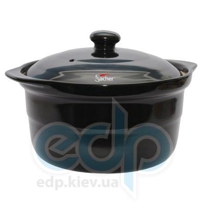 Sacher (посуда) Sacher - Кастрюля керамическая 1.2л черная(SHKP00069)