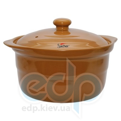 Sacher (посуда) Sacher - Кастрюля керамическая 3.2л коричневая (SHKP00076)