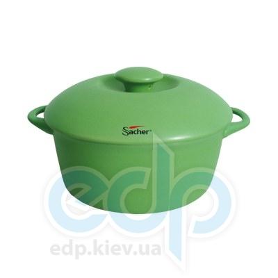 Sacher (посуда) Sacher - Кастрюля керамическая 1.8л салатовая (SHKP00079)