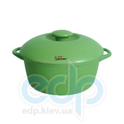 Sacher (посуда) Sacher - Кастрюля керамическая 3л салатовая (SHKP00080)