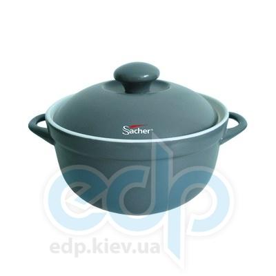 Sacher (посуда) Sacher - Кастрюля керамическая 3.4л серая (SHKP00082)
