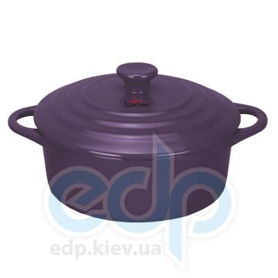 Sacher (посуда) Sacher - Кастрюля керамическая 1.3л лиловая (SHKP00083)