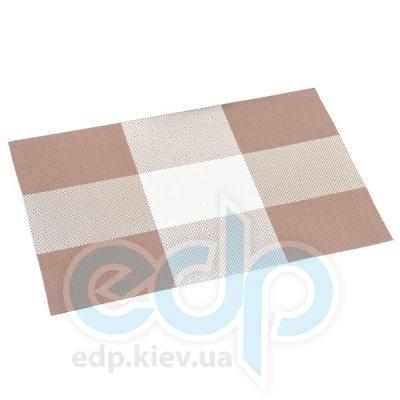 Kesper - Салфетка термостойкая из пластика коричневые квадраты 43 х 29 х 0.1 см (арт. 77563)