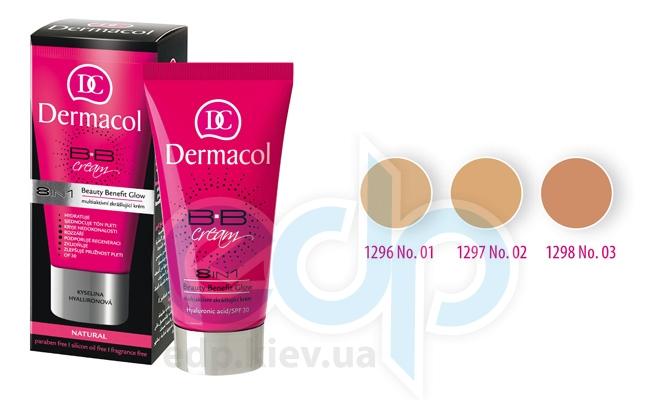 Dermacol BB Cream Light Крем для лица МультиАктивный 8 в1 Beauty Benefit Glow № 1 Light - 50 ml (3155)
