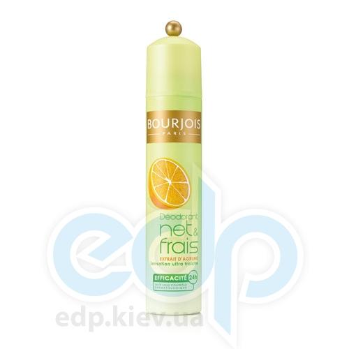 Дезодорант-спрей для тела освежающий с экстрактами цитрусовых 24ч действия Bourjois - Deodorant Net And Frains 24h - 200 ml (350468)