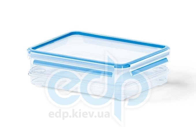 Emsa - Контейнер пищевой Clip&Close голубой объем 1 л прямоугольный, прозрачный (арт. 508540)