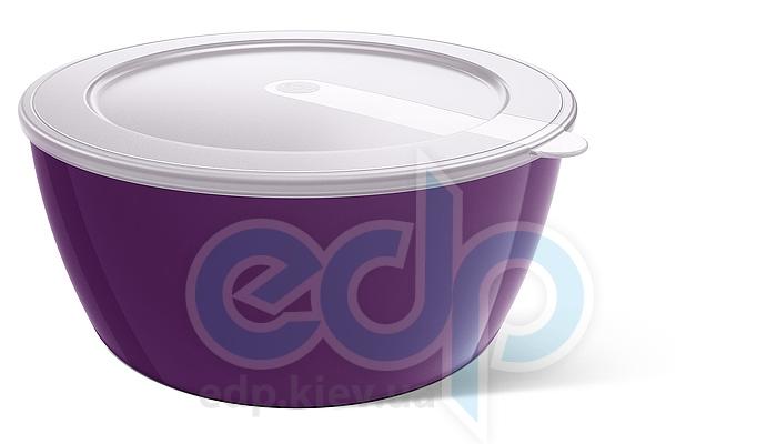 Emsa - Миска с крышкой объем 0.6 л. фиолетовая MyColours Savio (арт. 509488)