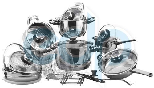 Vinzer (посуда) Vinzer -  Набор посуды GRAND CUISINE GLASS - 24 предмета, термодатчик, термоаккумулирующее дно, стекл, крышки (арт. 89024)