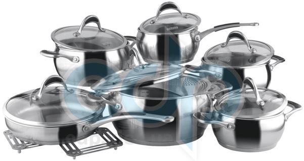 Vinzer (посуда) Vinzer -  Набор посуды HARMONY - 14 предметов, термоаккумулирующее дно, стеклянная крышка (арт. 89037)
