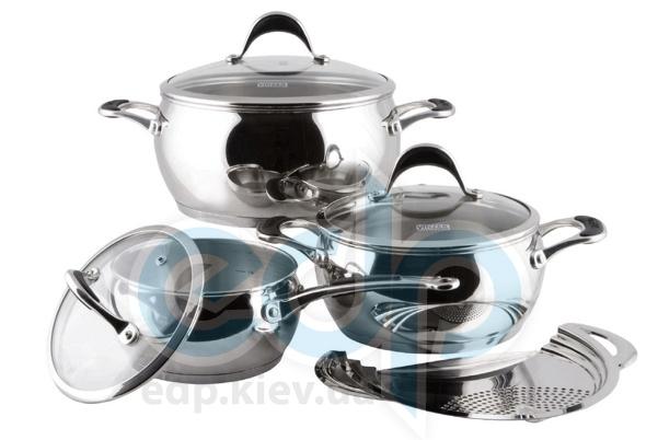 Vinzer (посуда) Vinzer -  Набор посуды ASTRO - 7 предметов, термоаккумулирующее дно, стеклянная крышка (арт. 89038)