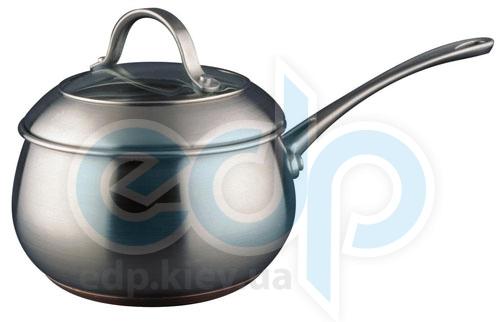 Vinzer (посуда) Vinzer -  Сотейник с крышкой - нержавеющая сталь, диаметр 14см, 1,2л , медное дно (арт. 69079)