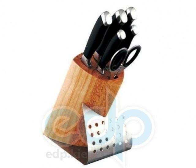 Vinzer (посуда) Vinzer -  Набор ножей CANVAS - 7 предметов, подставка комбинированная: дерево - нержавеющая сталь, бакелит, ручки (арт. 89107)