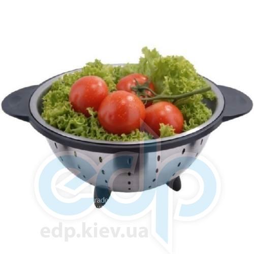 Vinzer (посуда) Vinzer -  Дуршлаг - 24 см, нержавеющая сталь (арт. 69342)