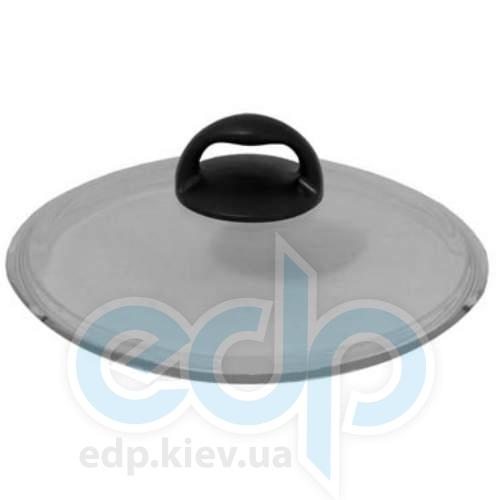 Vinzer (посуда) Vinzer -  Крышка стеклянная - диаметр 22 см, плоская, ручка из бакелита, жаростойкое стекло Pyrex (арт. 69391)