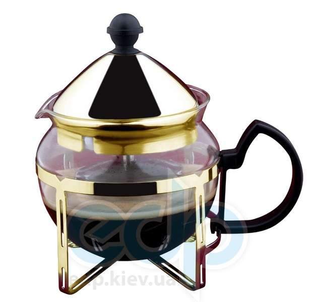 Vinzer (посуда) Vinzer -  Заварник для чая - стекло Thermix, нержавеющая сталь с покрытием, ситечко, 600 мл (арт. 69398)