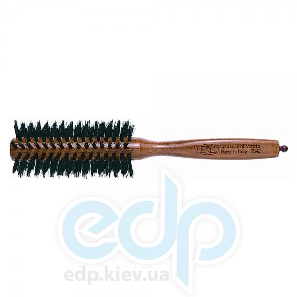 3ME Maestri - 3ME 0542 Расческа с деревянной ручкой из бука с усиленной щетиной Reggio d42mm