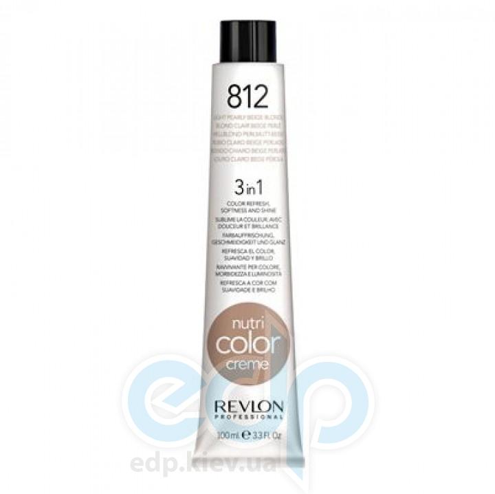 Тонирующий бальзам Revlon Professional - Nutri Color Creme №812 Light Pearly Beige Blonde/Светлый Жемчужно-Бежевый Блонд - 100 ml
