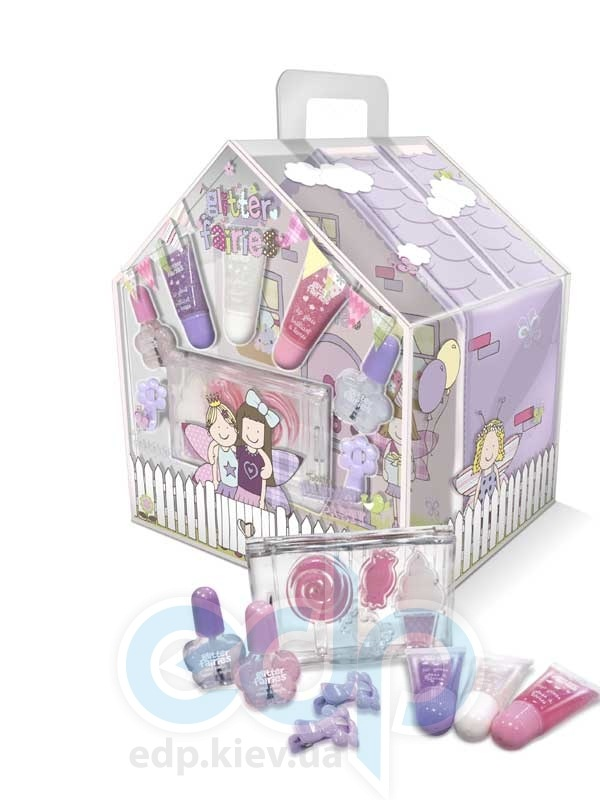 Grace Cole - Набор подарочныaй Twinkles Garden Party (блеск для губ 3 х 5 ml + лак для ногтей 2 х 5 ml + палитра блесков для губ + заколка для волос + косметичка)