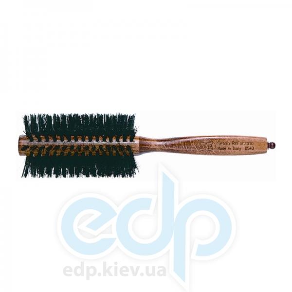 3ME Maestri - 3ME 0543 Расческа с деревянной ручкой из бука с усиленной щетиной Reggio d55mm