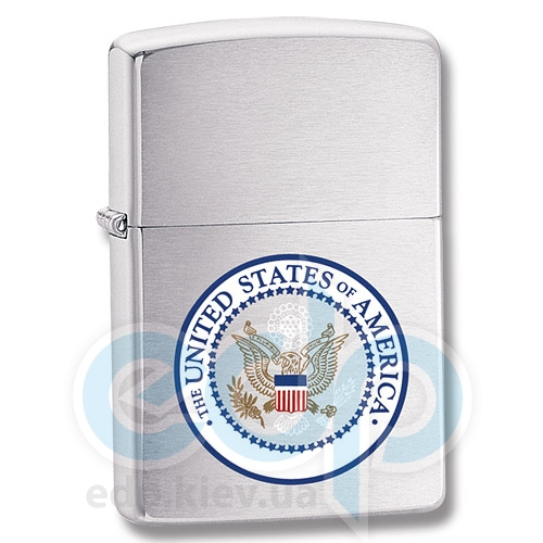 Зажигалка Zippo - U.S. Seal High Brushed Chrome (24347)