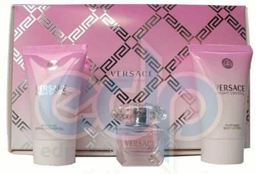 Versace Bright Crystal -  Набор (mini 5 ml + гель для душа 25 + лосьон-молочко для тела 25)